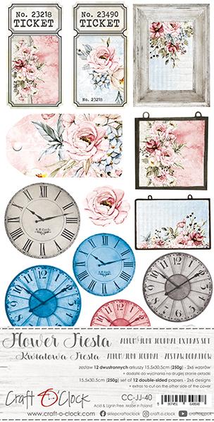 Flower Fiesta - Junk Journal kivágóív szett