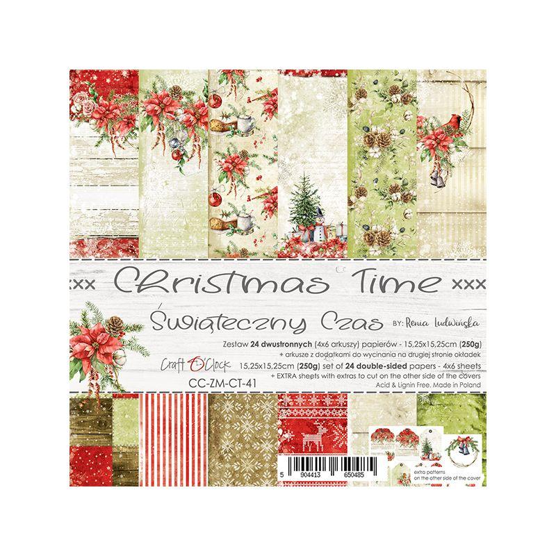 Christmas Time - papírkészlet 15,25 x 15,25 cm