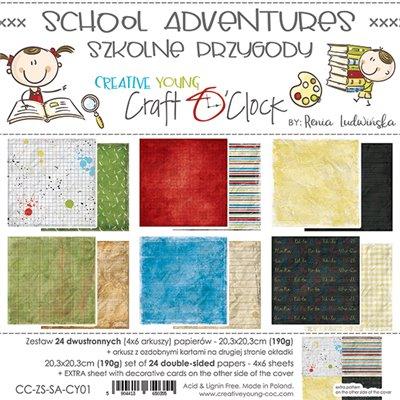 School Adventure - papírkészlet 20,3 x 20,3 cm