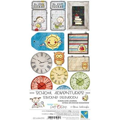 School Adventure - Junk Journal kivágóív szett
