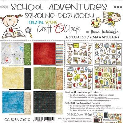 School Adventure - special szett papírkészlet 20,3x20,3 cm