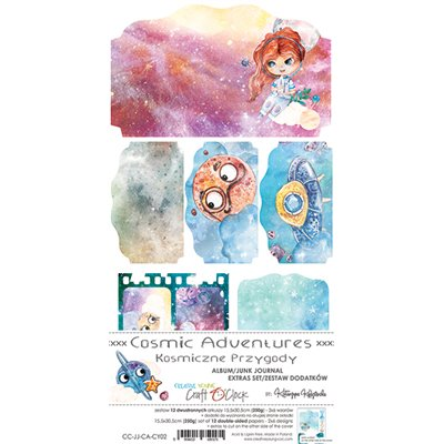 Cosmic Adventure - Junk Journal kivágóív szett