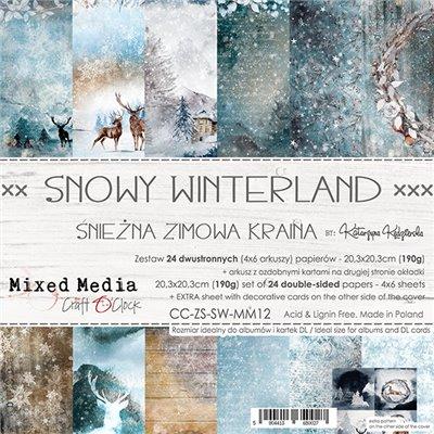 Snowy Winterland - papírkészlet 20,3 x 20,3 cm