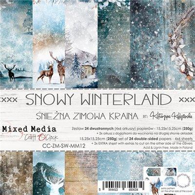 Snowy Winterland - papírkészlet 15,25 x 15,25 cm