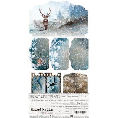 Snowy Winterland - Junk Journal kivágóív szett