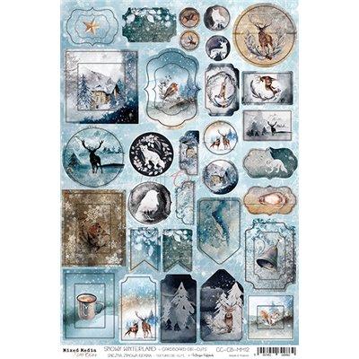 Snowy Winterland - karton kivágat