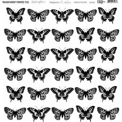 Átlátszó fólia - Butterflies - 12x12
