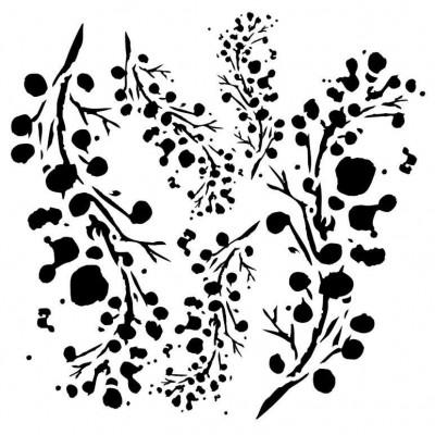 Berries stencil  by Aida Domisiewicz