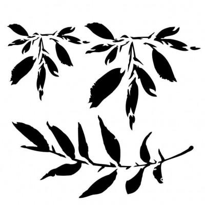Leaves stencil