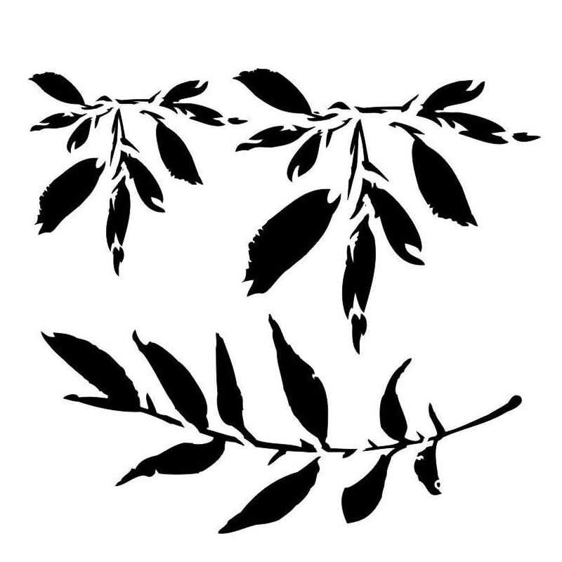 Leaves stencil by Aida Domisiewicz