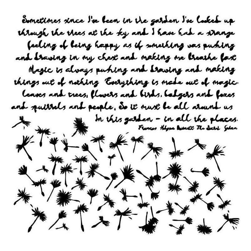Dandelions stencil by Aida Domisiewicz