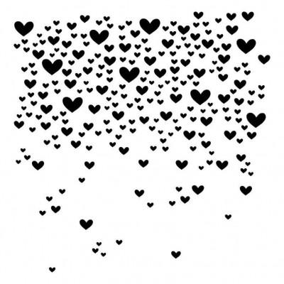 Blizzard of Hearts stencil