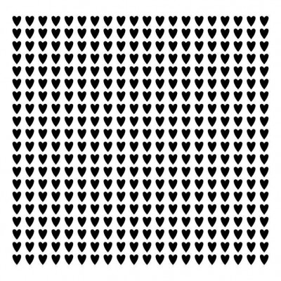 Polka hearts  stencil