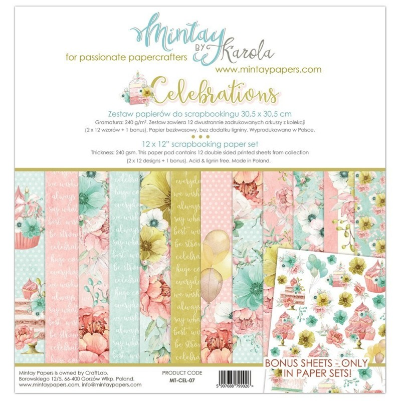 Mintay Celebrations maxi kollekció - 12x12