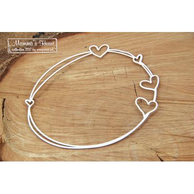 Mamma's heart - nagy ovális keret