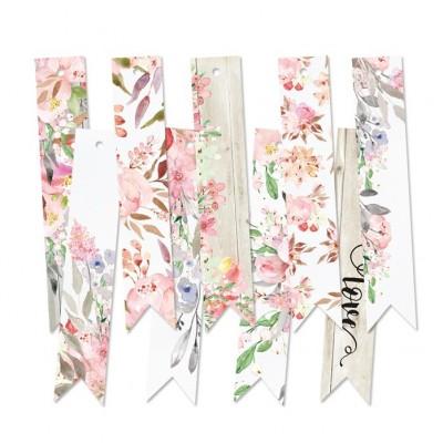 Love in Bloom dekorációs címke  03