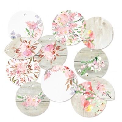 Love in Bloom dekorációs címke  01