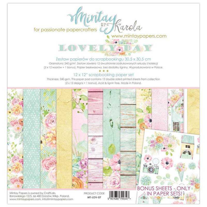 Mintay Lovely Day maxi kollekció - 12x12