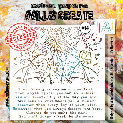 AALL and Create stencil no.34
