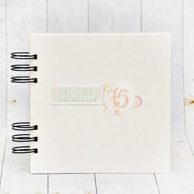10 lapos chipboard album - 20x20 cm