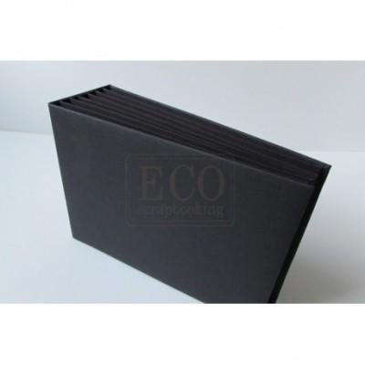 Fekete 3D album vászon borítással  - 22x16 cm
