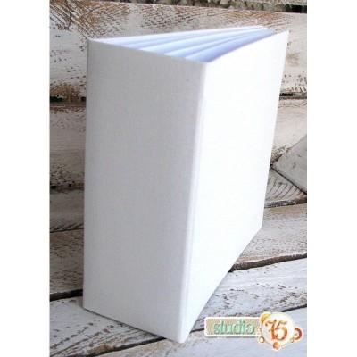 Fehér 3D album vászon borítással  - 16x16 cm