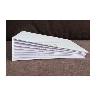 Fehér 3D album vászon borítással  - 22x16 cm, 6 lapos