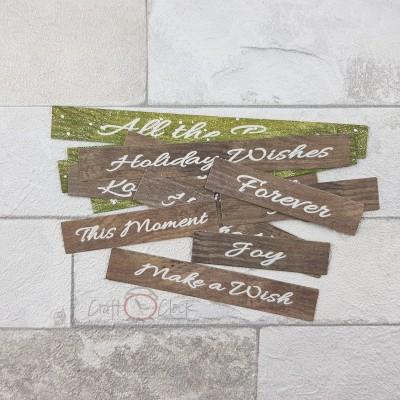 My Christmas Wish kivágóív feliratok