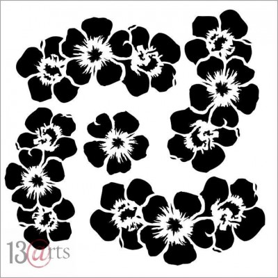 Flowers des.2 Rose Fields stencil
