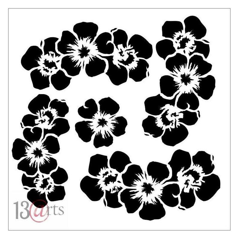 Flowers des.2 Rose Fields stencil
