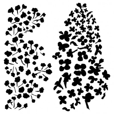Little Roses - Rose Fields stencil