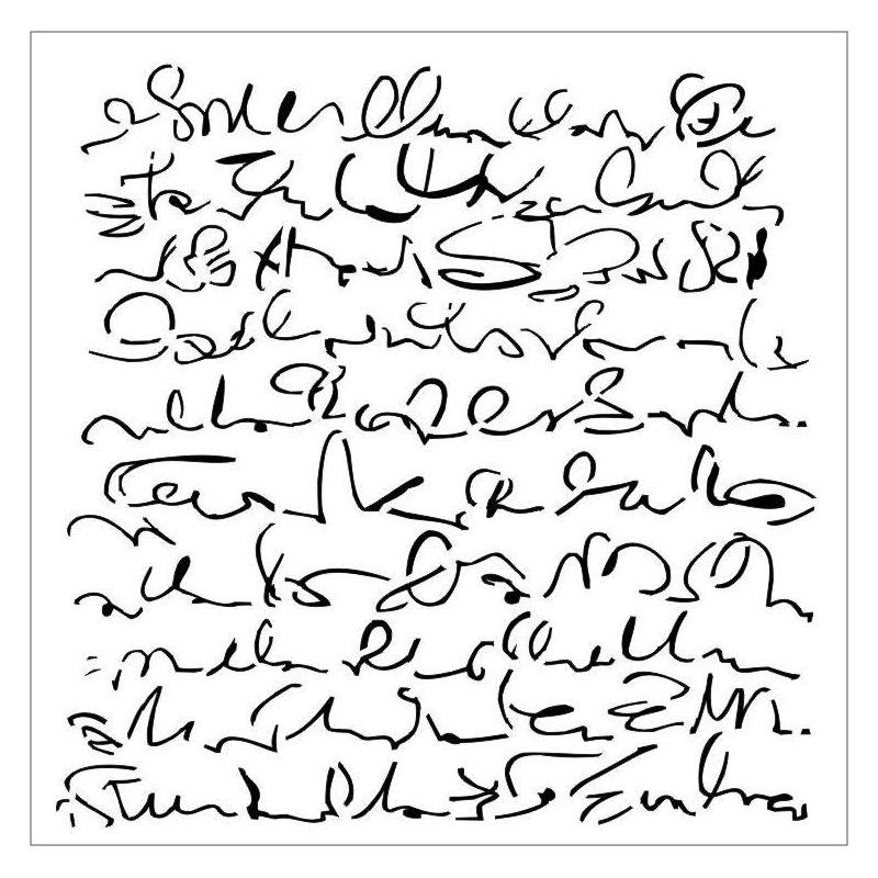 Script - Aqua Flora stencil