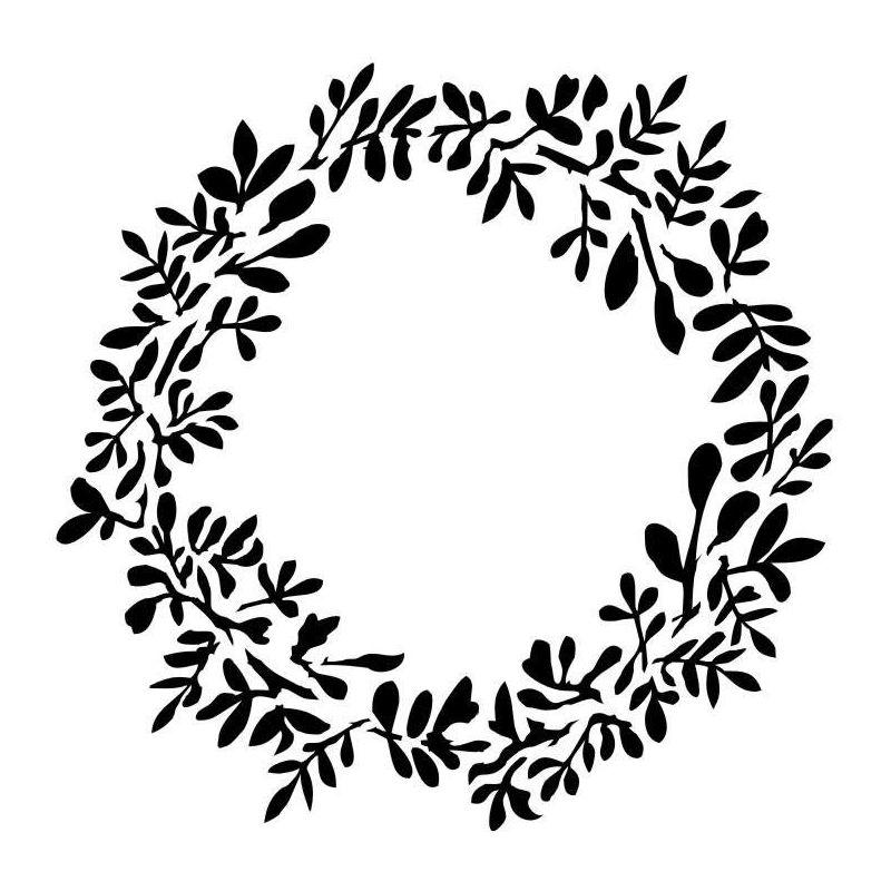 Vintage Wreath stencil