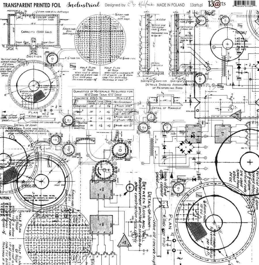 Átlátszó fólia - Industrial - 12x12
