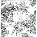 Átlátszó fólia - Vintage Flowers - 12x12