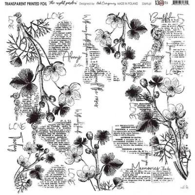 Átlátszó fólia - Night Garden - 12x12