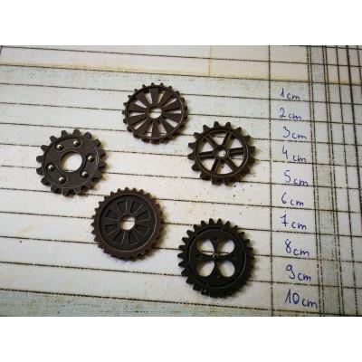 3 cm átmérőjű fogaskerekek (7db)