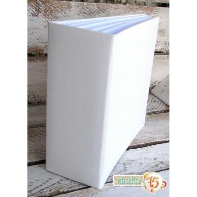 Fehér 3D album vászon borítással  - 20x20 cm, 6 lapos
