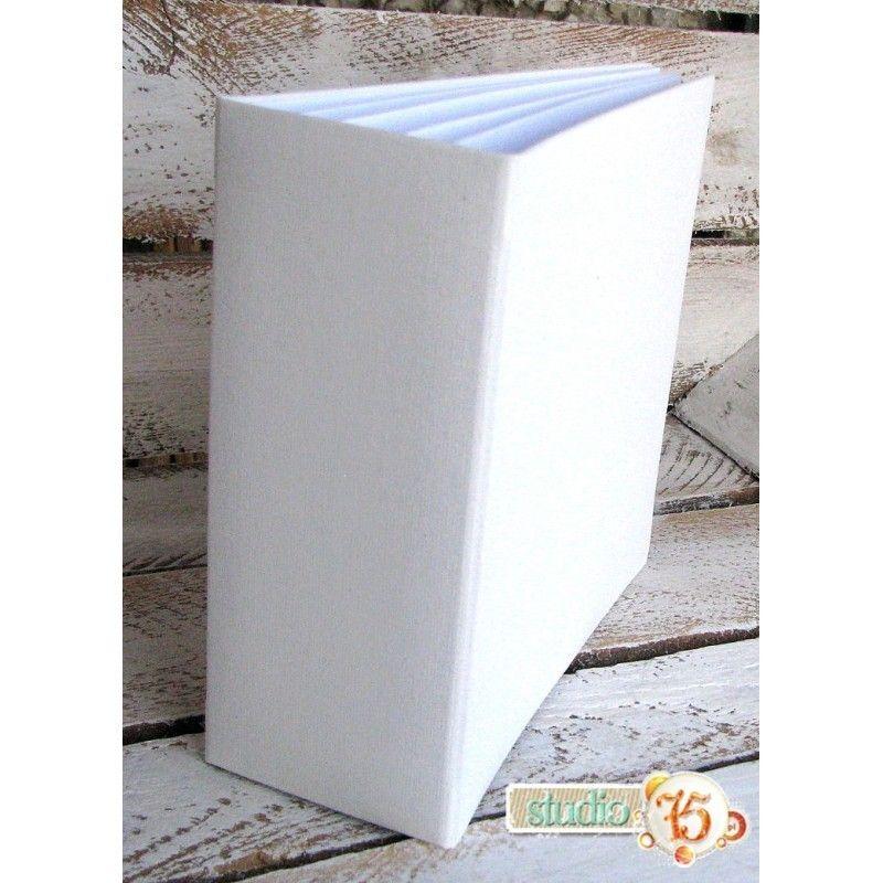 Fehér 3D album vászon borítással  - 20x20 cm, 8 lapos