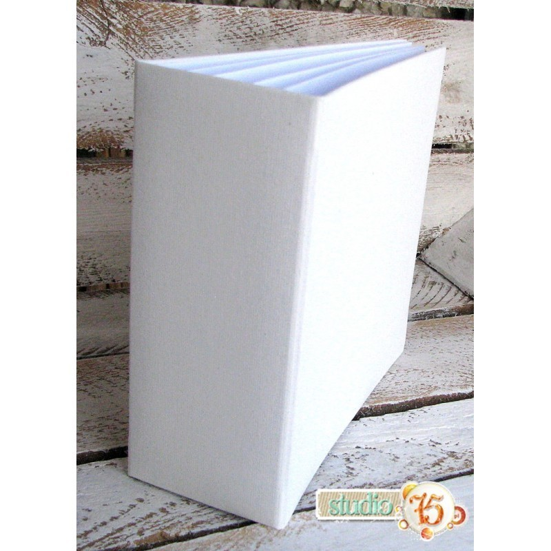 Fehér 3D album vászon borítással  - 30x30