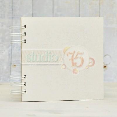 15 lapos chipboard album - 20x20 cm