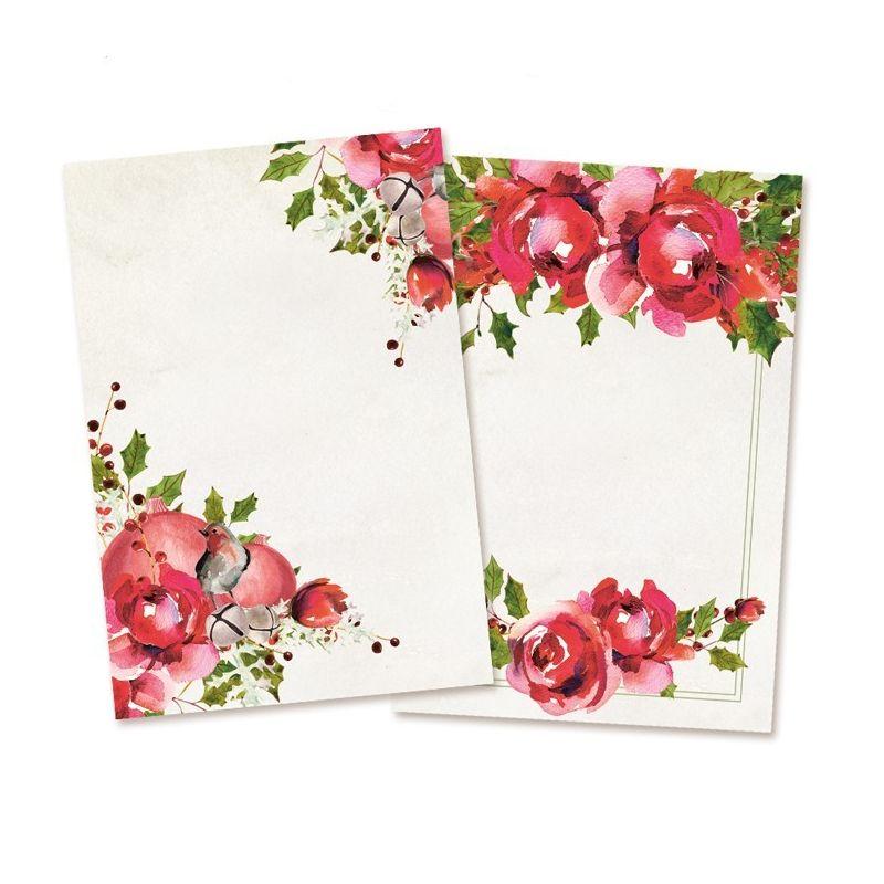 Rosy Cosy Christmas kártya szett 3x4