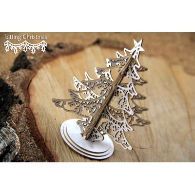 Tatting Christmas - 3D karácsonyfa