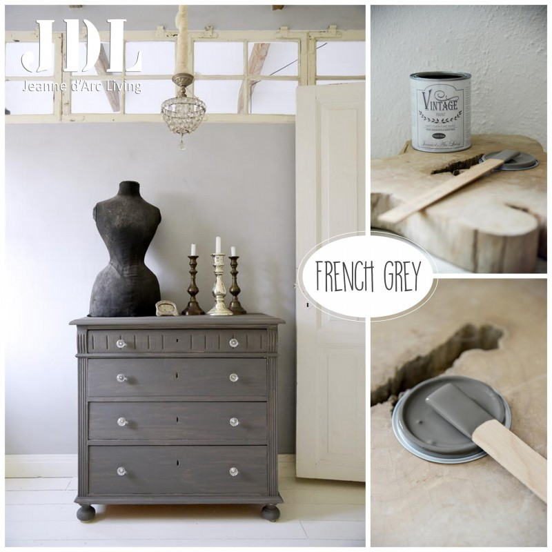 Vintage Chalk Paint - French Grey- JDL Vintage Paint
