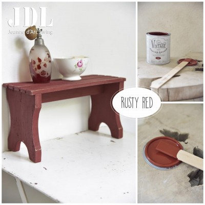 Vintage Chalk Paint - Rusty Red- JDL Vintage Paint