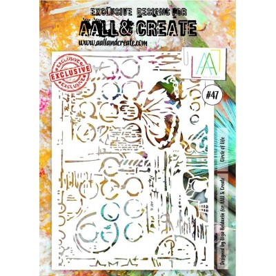 AALL and Create A4 stencil no.47