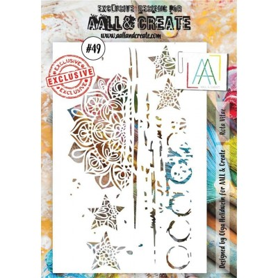 AALL and Create A5 stencil no.49