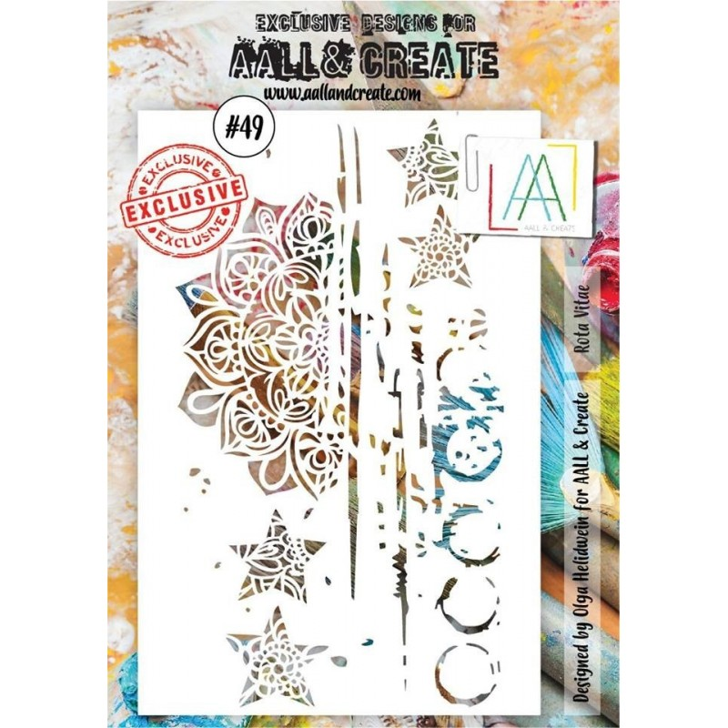 AALL and Create A4 stencil no.49