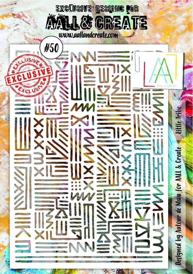 AALL and Create A5 stencil no.50
