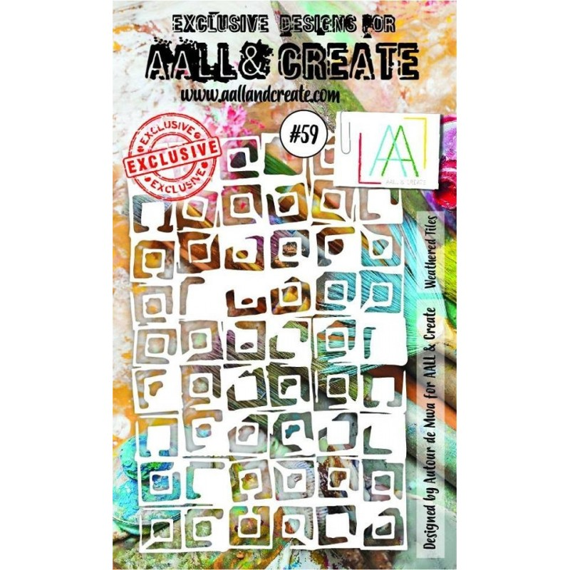 AALL and Create A6 stencil no.59